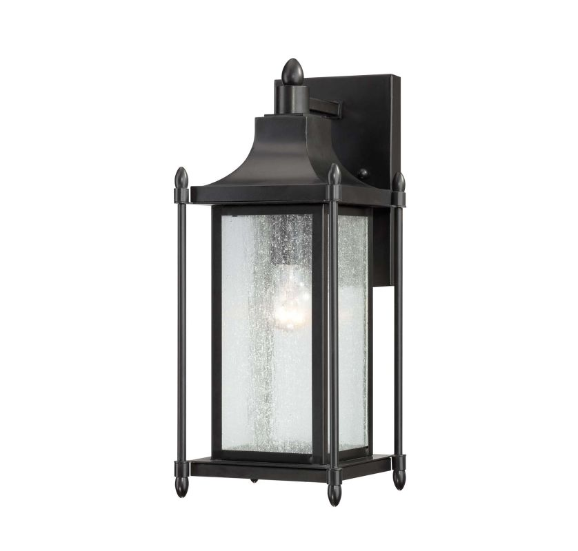 "Savoy House 5-3451 Dunnmore 1 Light 16"" Tall Outdoor Wall Sconce Black"