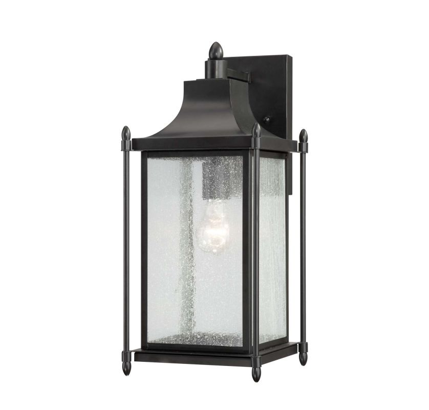 "Savoy House 5-3452 Dunnmore 1 Light 18"" Tall Outdoor Wall Sconce Black"