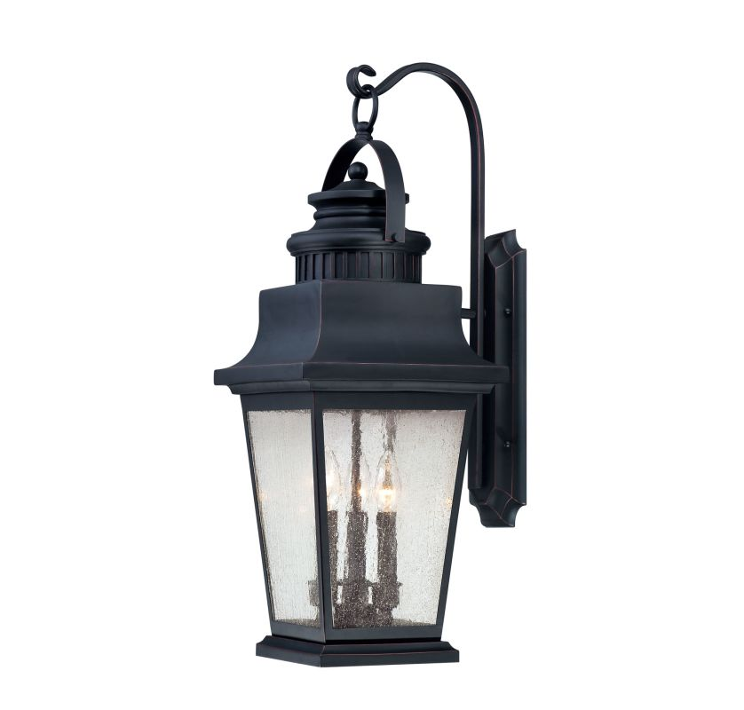 """Savoy House 5-3550 Barrister 3 Light 27.75"""" Tall Outdoor Wall Sconce"""