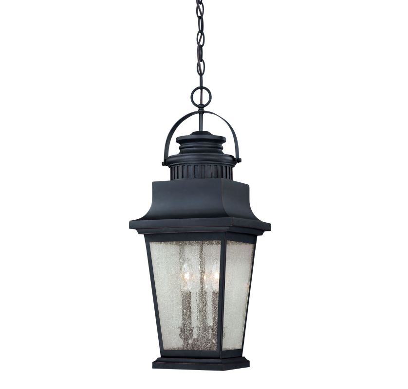 """Savoy House 5-3551 Barrister 3 Light 10"""" Wide Outdoor Pendant Slate"""