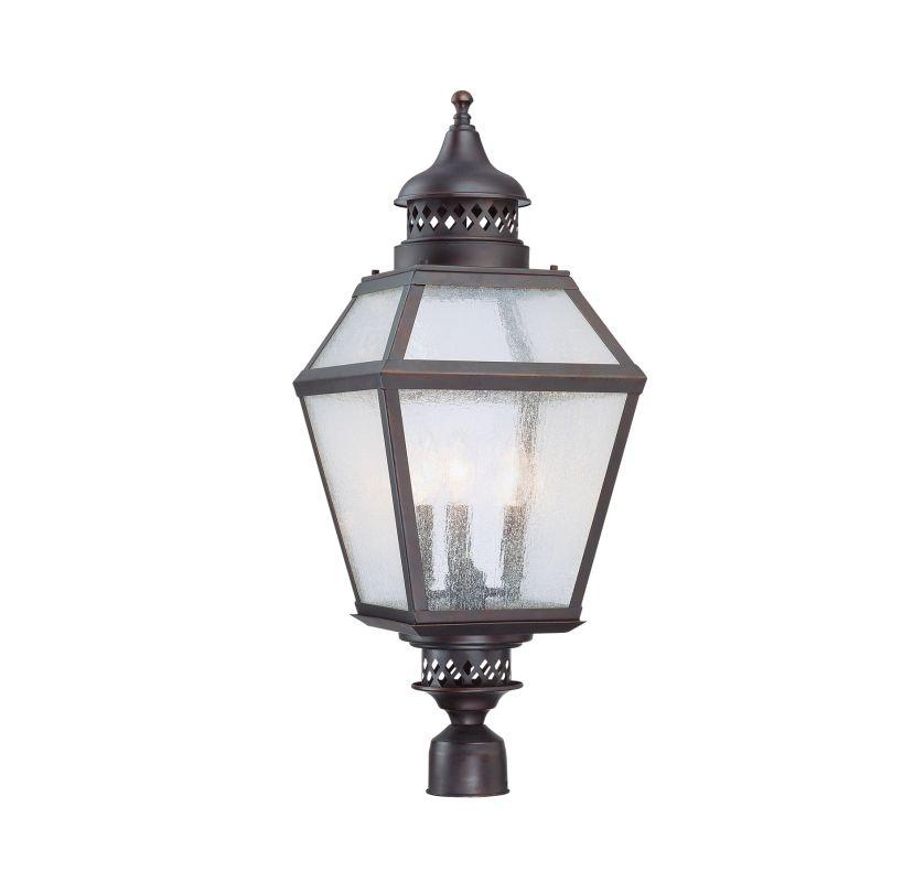 "Savoy House 5-777 Chiminea 3 Light 28.75"" Tall Single Outdoor Post"