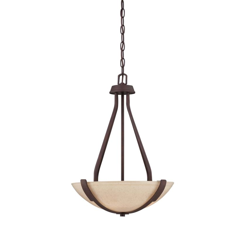 "Savoy House 7-5437-3 Berkley 3 Light 16.5"" Wide Pendant Heritage"