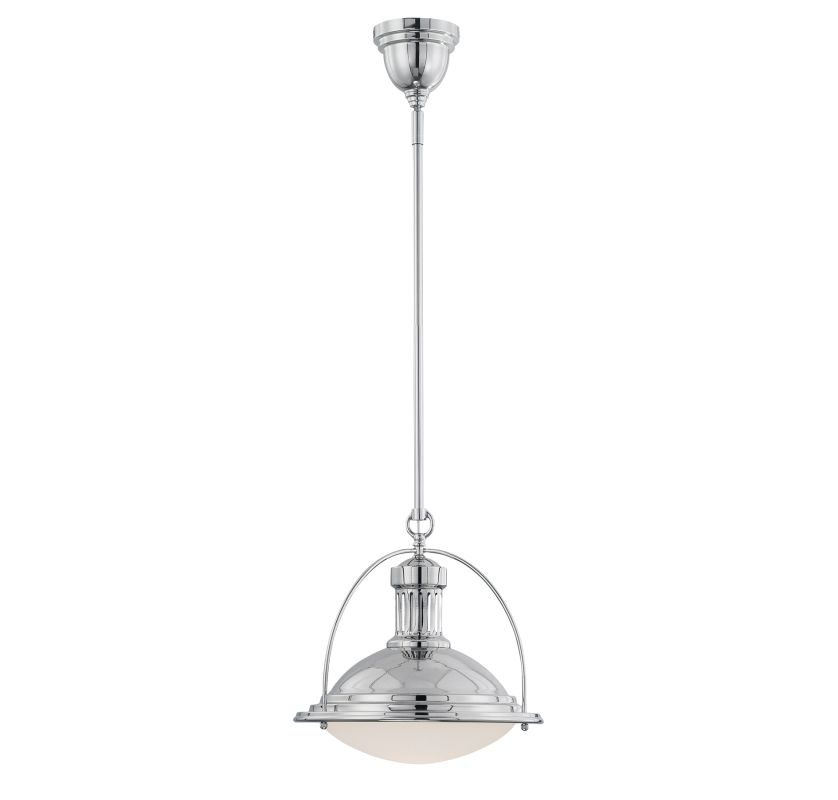 "Savoy House 7-602-1 Vintage Pendants 1 Light 13"" Wide Pendant Polished"