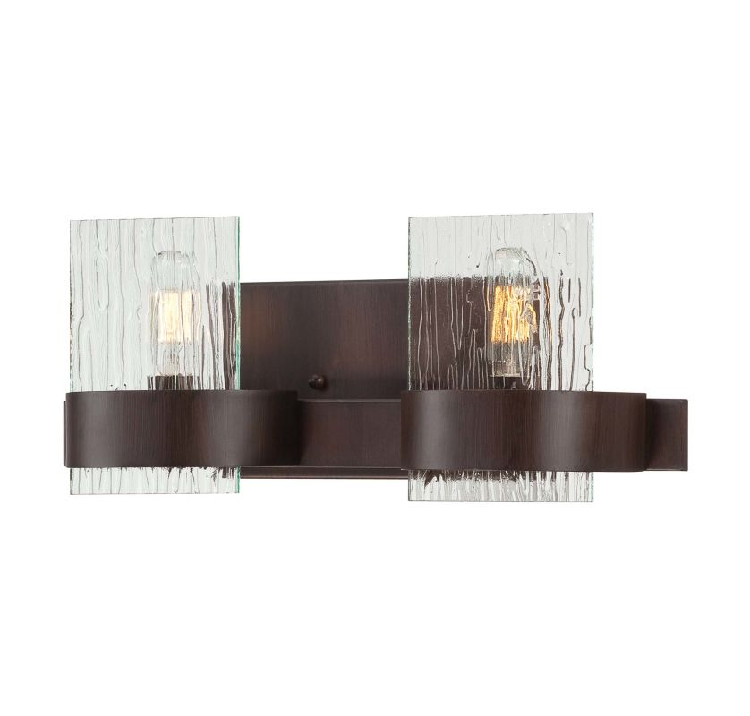Savoy House 8-3512-2 2 Light Bathroom Wall Sconce from the Brione