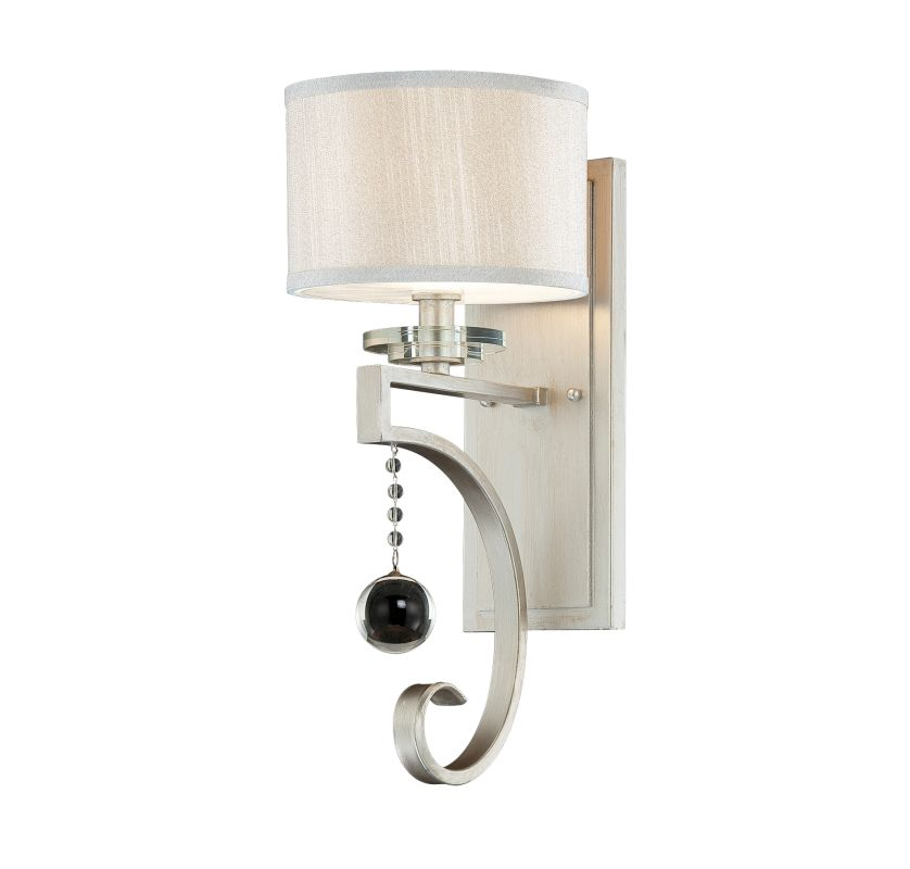 "Savoy House 9-256-1 Rosendal 1 Light 18"" Tall Wall Sconce Silver"