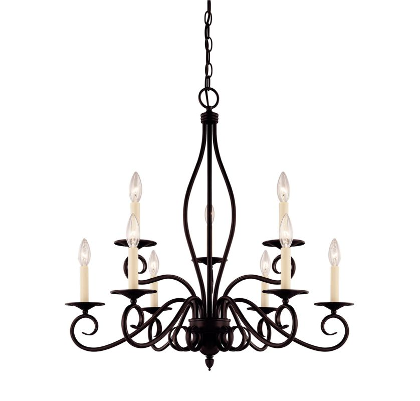 "Savoy House KP-99-9 Oxford 9 Light 29.25"" Wide 2 Tier Chandelier"