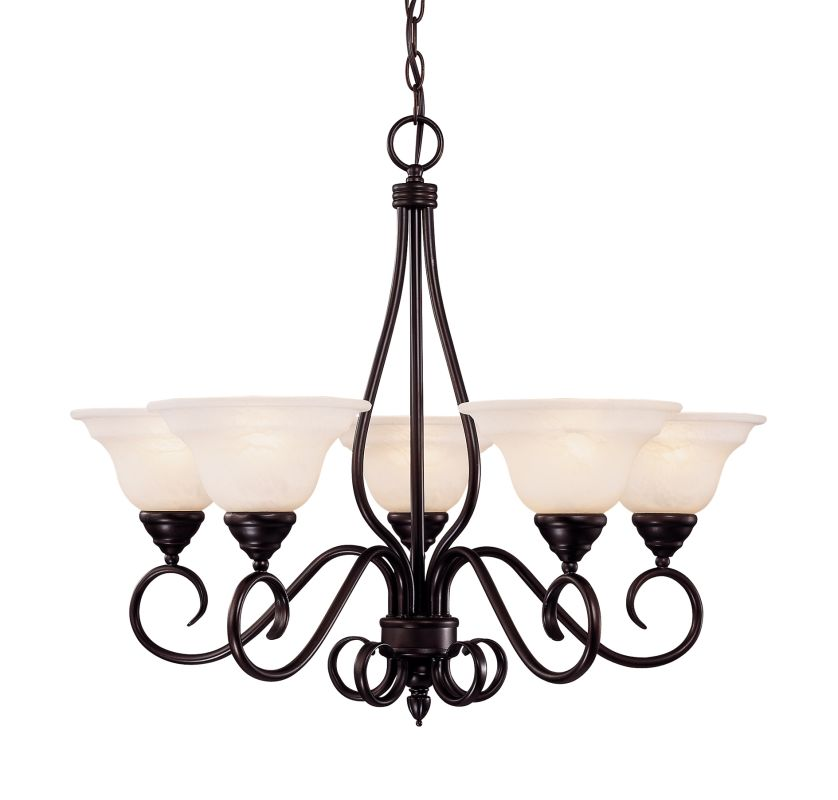"""Savoy House KP-94-5 Oxford 5 Light 28"""" Wide 2 Tier Chandelier English"""
