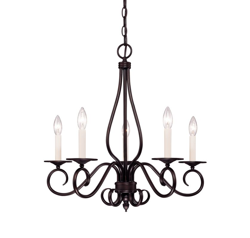 """Savoy House KP-95-5 Oxford 5 Light 24"""" Wide 1 Tier Chandelier English"""