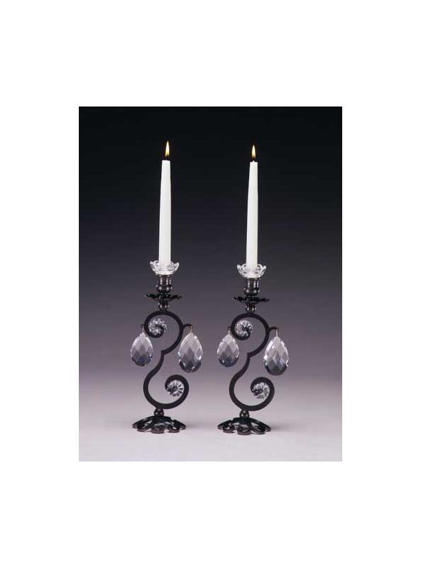 Schonbek 71211/2 Crystal Single Light Up Lighting Candelabra from the