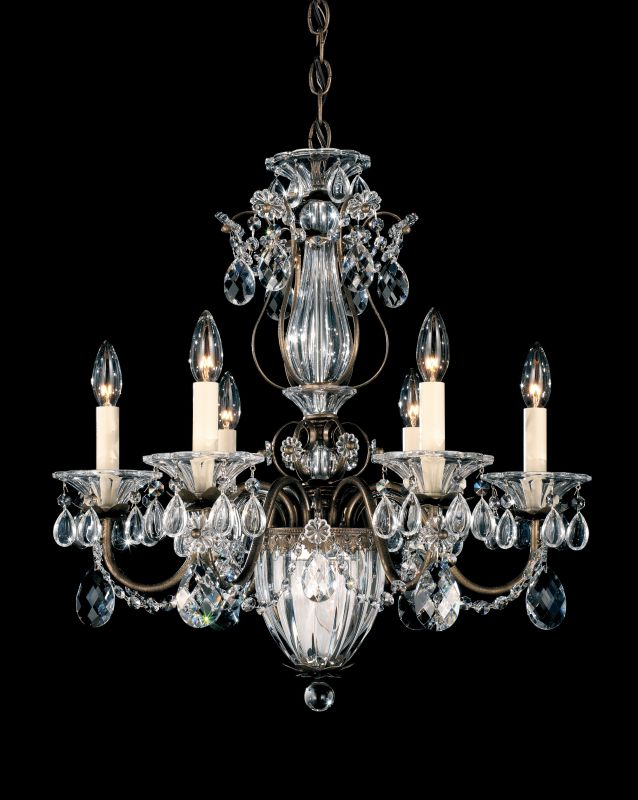 "Schonbek 1246 21"" Wide 7 Light Candle Style Chandelier from the"