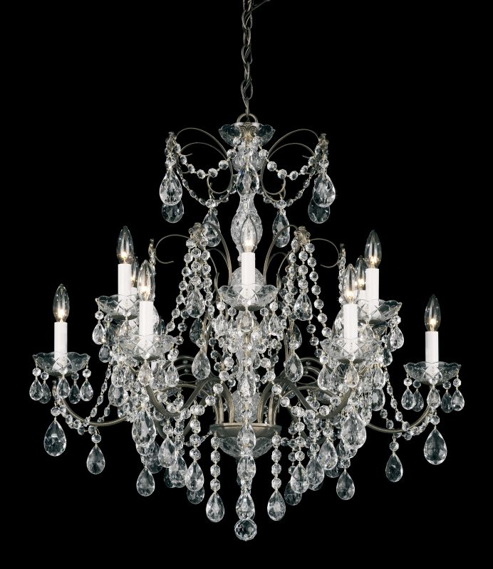 "Schonbek 1596 30"" Wide 12 Light Candle Style Chandelier from the"
