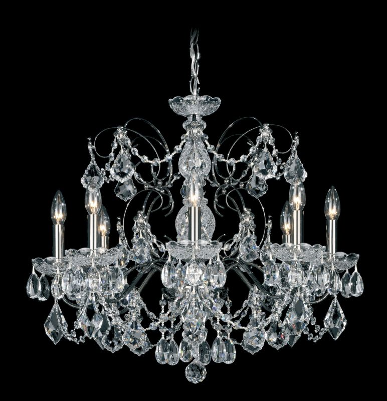 "Schonbek 1707 24"" Wide 8 Light Candle Style Chandelier from the"