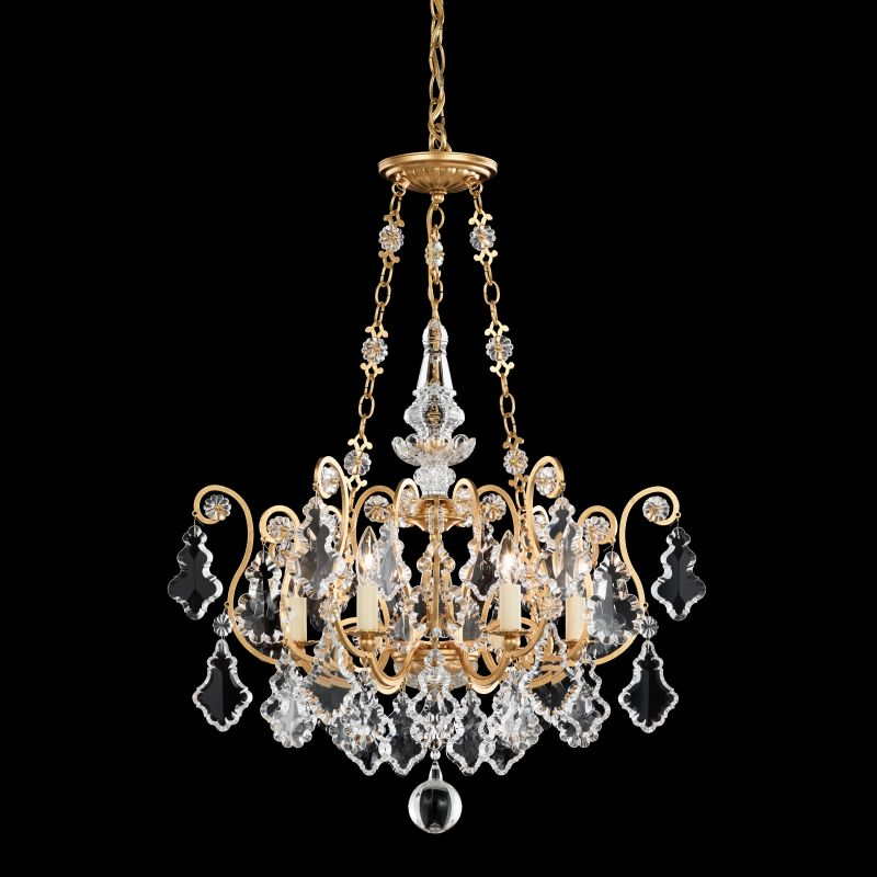 "Schonbek 2786 21 1/2"" Wide 6 Light Candle Style Chandelier from the Sale $2350.00 ITEM: bci1005928 ID#:2786-22 UPC: 771857155990 :"