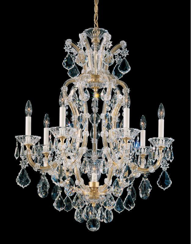 "Schonbek 5607 26 1/2"" Wide 8 Light Candle Style Chandelier from the"