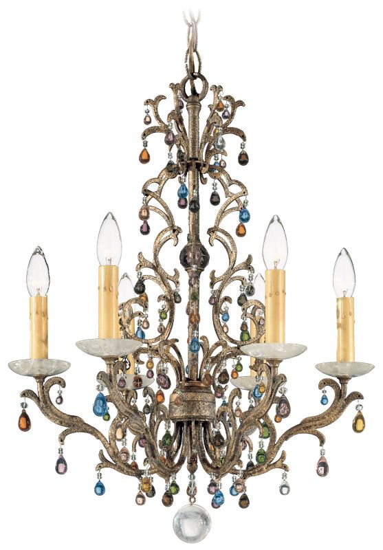 "Schonbek 9876 19"" Wide 6 Light Candle Style Chandelier from the"
