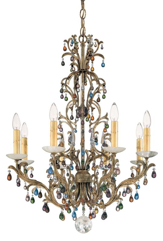 "Schonbek 9878 24"" Wide 8 Light Candle Style Chandelier from the"