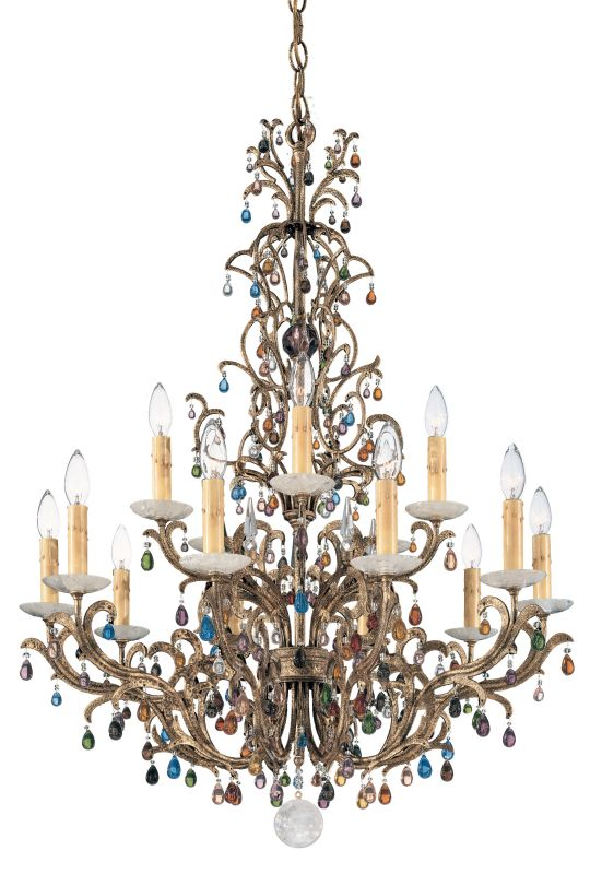"Schonbek 9882 29"" Wide 15 Light Candle Style Chandelier from the"