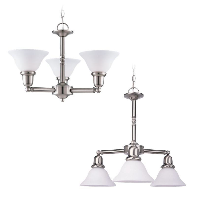 Sea Gull Lighting 31060 Wrought Iron 3 Light Up Lighting Chandelier
