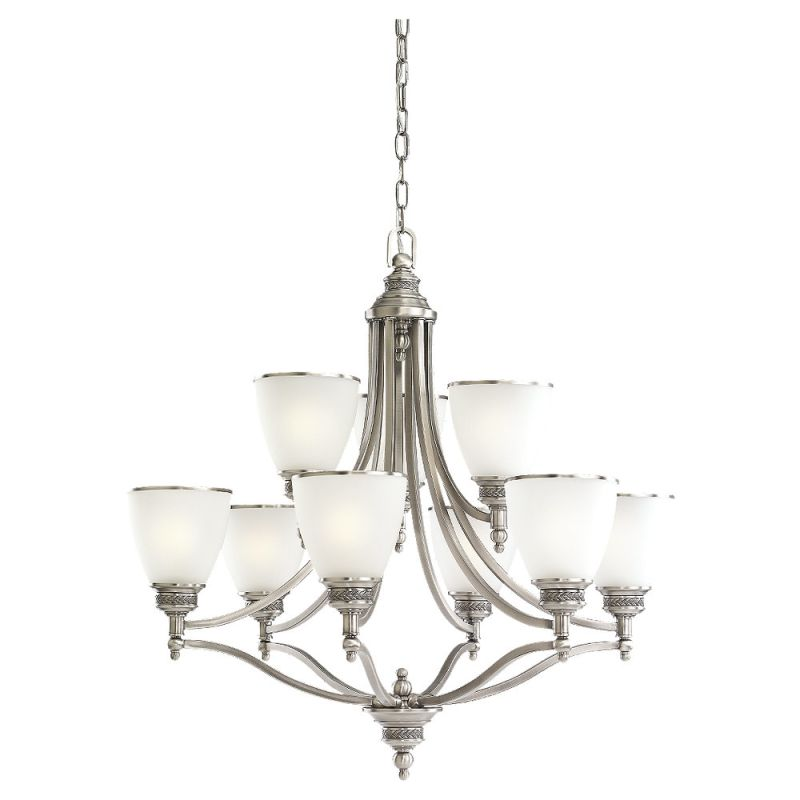 Sea Gull Lighting 31351 Laurel Leaf 9 Light 2 Tier Chandelier Antique Sale $799.50 ITEM: bci529640 ID#:31351-965 UPC: 785652135194 :