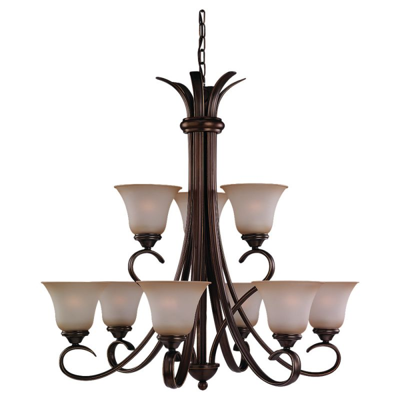 Sea Gull Lighting 31362 Nine Light Chandelier from the Rialto Sale $248.00 ITEM: bci529538 ID#:31362-829 UPC: 785652362828 :