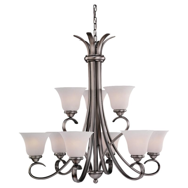 Sea Gull Lighting 31362 Nine Light Chandelier from the Rialto Sale $248.00 ITEM: bci529539 ID#:31362-965 UPC: 785652313639 :