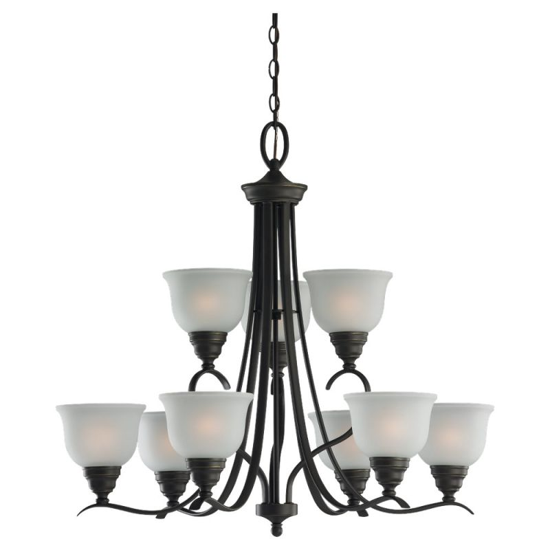 Sea Gull Lighting 31627BLE Nine Light Up Lighting Energy Star Two Tier