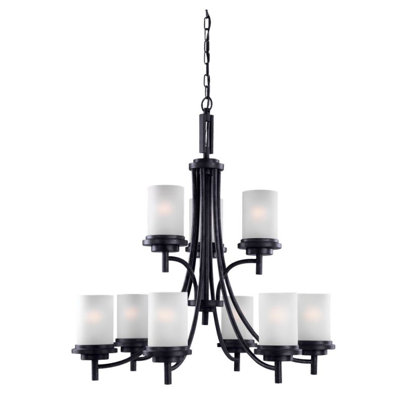Sea Gull Lighting 31662 Winnetka 9 Light 2 Tier Chandelier Blacksmith Sale $612.90 ITEM: bci1209835 ID#:31662-839 UPC: 785652316029 :