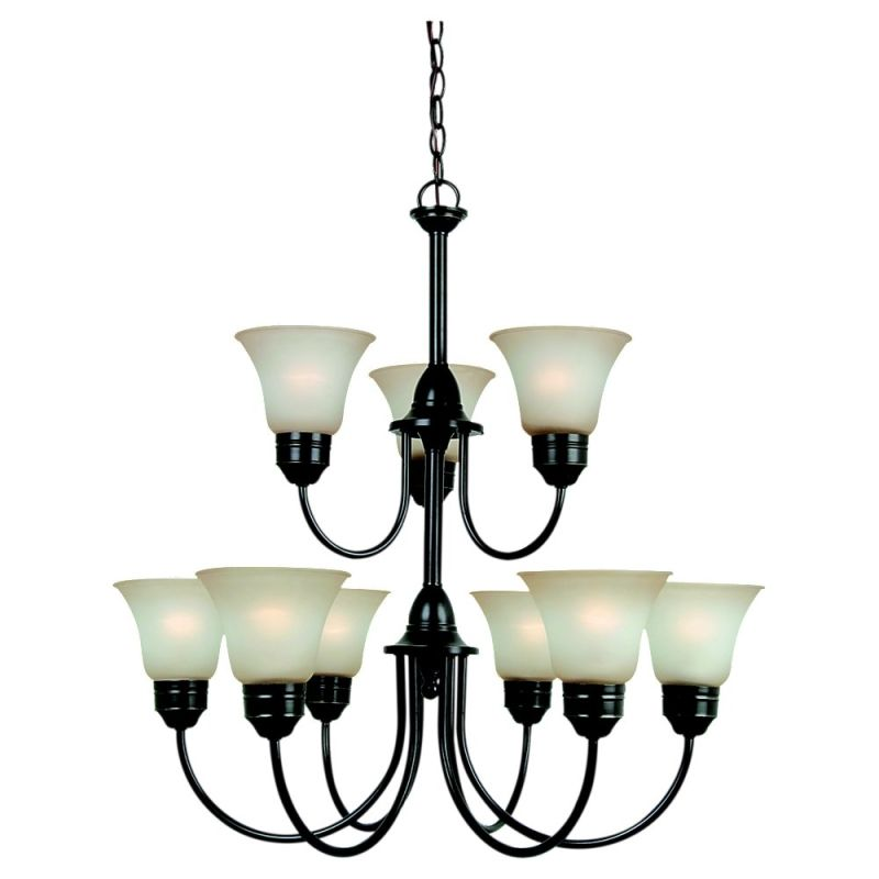Sea Gull Lighting 31852 Nine Light Two Tier Chandelier from the