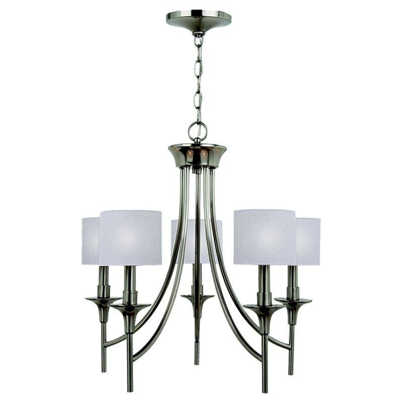 Sea Gull Lighting 31942 Stirling 5 Light 1 Tier Chandelier Brushed Sale $356.70 ITEM: bci1686545 ID#:31942-962 UPC: 785652019883 :