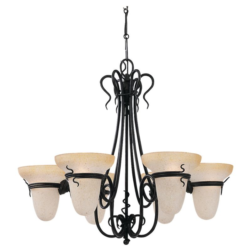 Sea Gull Lighting 3211 6 Light Up Lighting Chandelier from the Saranac
