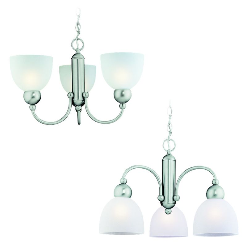 Sea Gull Lighting 39035BLE Three Light Chandelier from the Metropolis