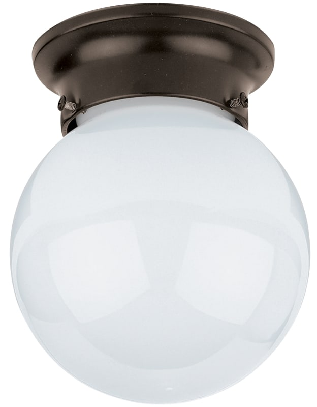 Sea Gull Lighting 5366 Tomkin 1 Light Flush Mount Ceiling Fixture