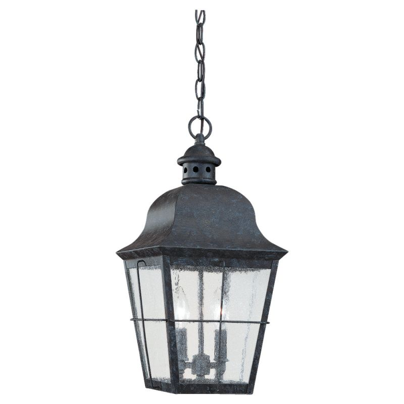 Sea Gull Lighting 6062 Chatham 2 Light Outdoor Small Lantern Pendant