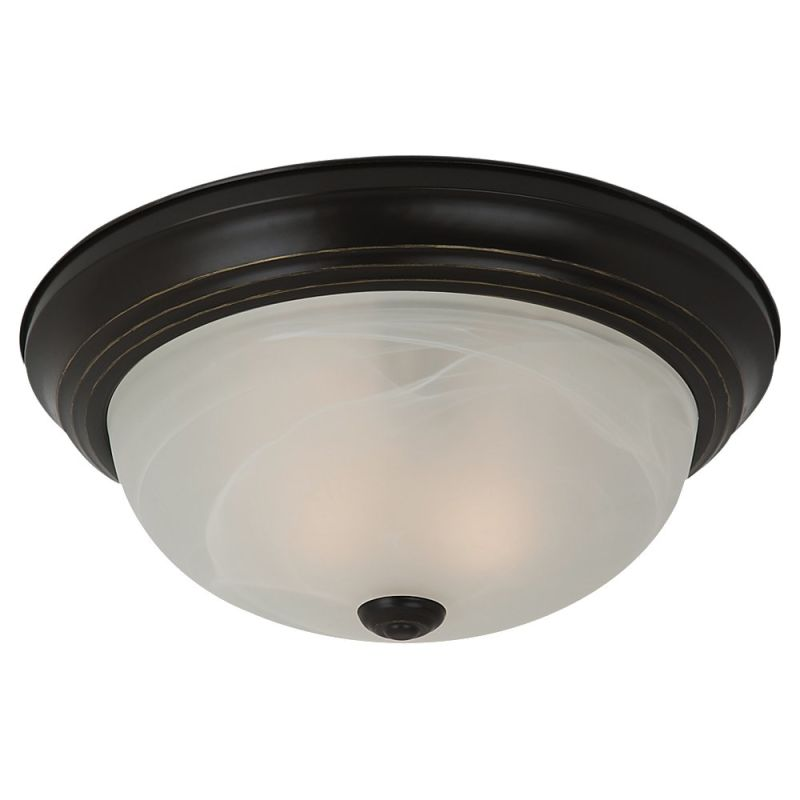 Sea Gull Lighting 75942BLE Windgate 2 Light Energy Star Flush Mount