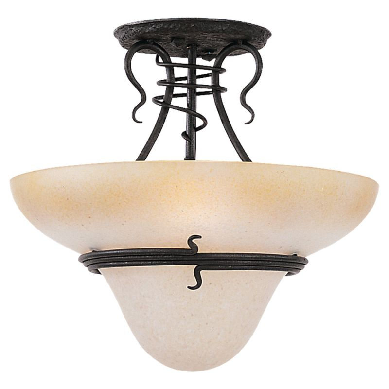 Sea Gull Lighting 7713 Saranac Lake 3 Light Semi-Flush Ceiling Fixture