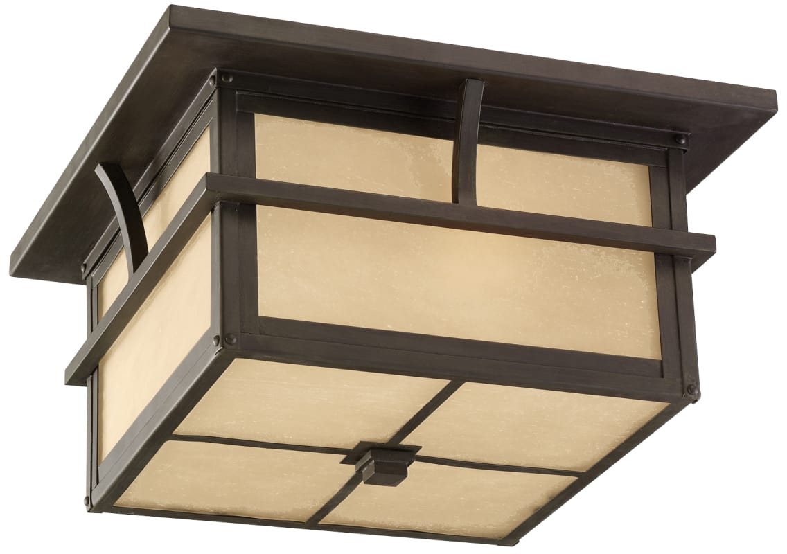 Sea Gull Lighting 78880 Medford Lakes 2 Light Outdoor Flush Mount