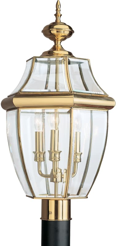 Sea Gull Lighting 8239 Lancaster 3 Light Outdoor Lantern Post Light Sale $182.20 ITEM: bci106026 ID#:8239-02 UPC: 785652823923 :
