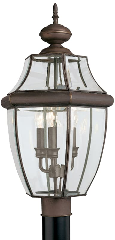 Sea Gull Lighting 8239 Lancaster 3 Light Outdoor Lantern Post Light Sale $182.20 ITEM: bci106023 ID#:8239-71 UPC: 785652823985 :