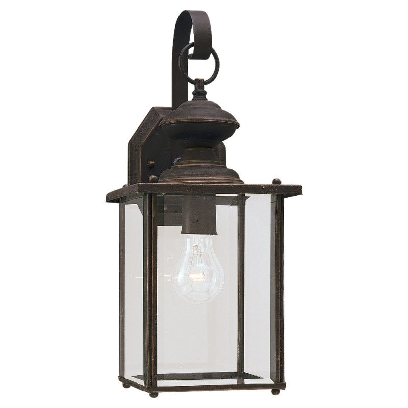 "Sea Gull Lighting 8458 Jamestowne 1 Light Outdoor Lantern Wall Sconce Sale $113.60 ITEM: bci278671 ID#:8458-71 UPC: 785652845871 Product Features: Finish: Black , Light Direction: Ambient Lighting , Width: 7"" , Height: 17"" , Genre: Colonial , Bulb Type: Compact Fluorescent, Incandescent , Number of Bulbs: 1 , Fully covered under Sea Gull Lighting warranty , Location Rating: Outdoor Use :"