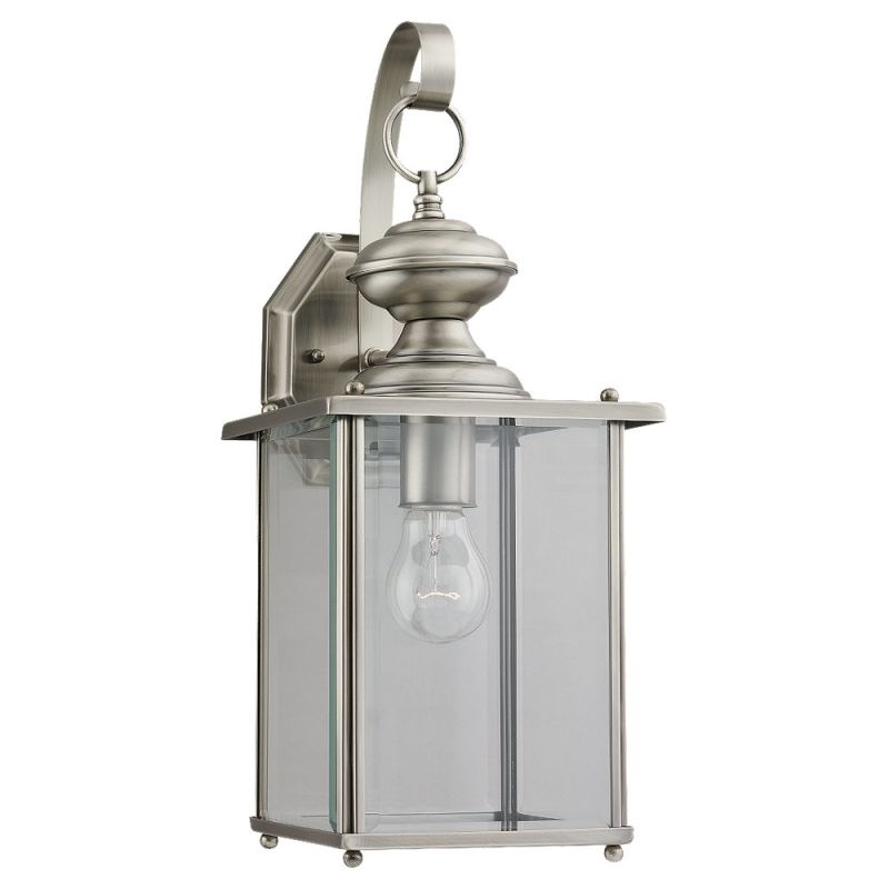 "Sea Gull Lighting 8458 Jamestowne 1 Light Outdoor Lantern Wall Sconce Sale $113.60 ITEM: bci506521 ID#:8458-965 UPC: 785652084522 Product Features: Finish: Antique Bronze , Light Direction: Ambient Lighting , Width: 7"" , Height: 17"" , Genre: Colonial , Bulb Type: Compact Fluorescent, Incandescent , Number of Bulbs: 1 , Fully covered under Sea Gull Lighting warranty , Location Rating: Outdoor Use :"
