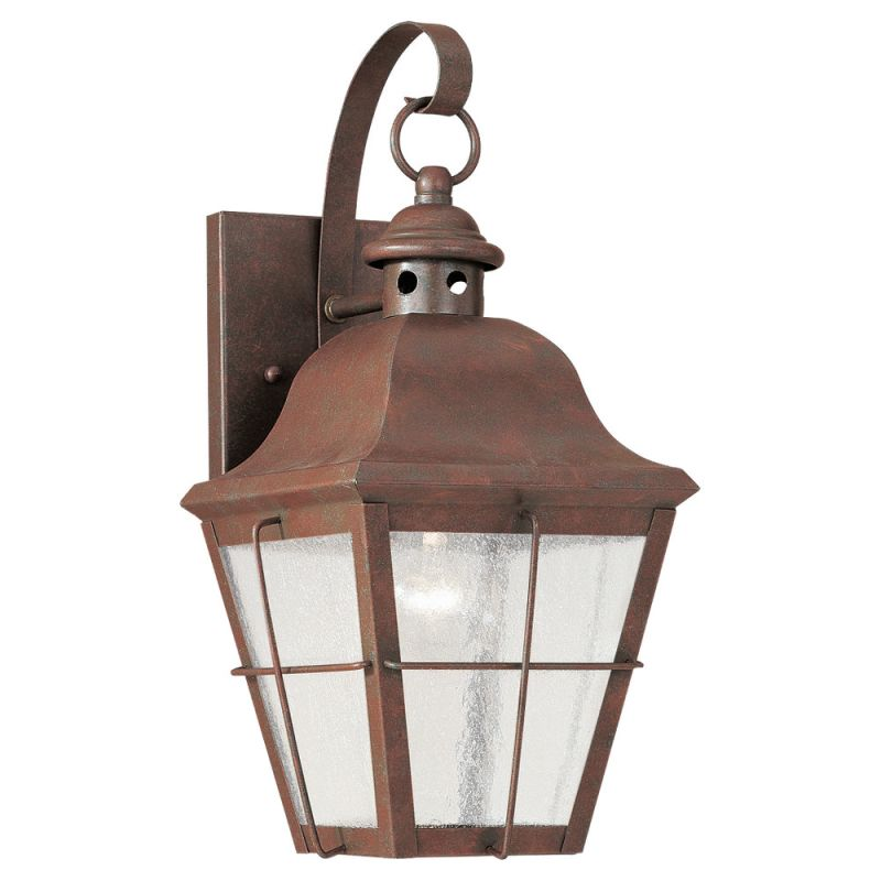 Sea Gull Lighting 8462 Colonial Styling 1 Light Outdoor Lantern Wall Sale $148.20 ITEM: bci278695 ID#:8462-44 UPC: 785652846243 :