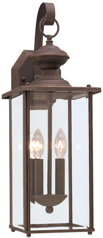 Sea Gull Lighting 8468 Jamestowne 2 Light Outdoor Lantern Wall Sconce