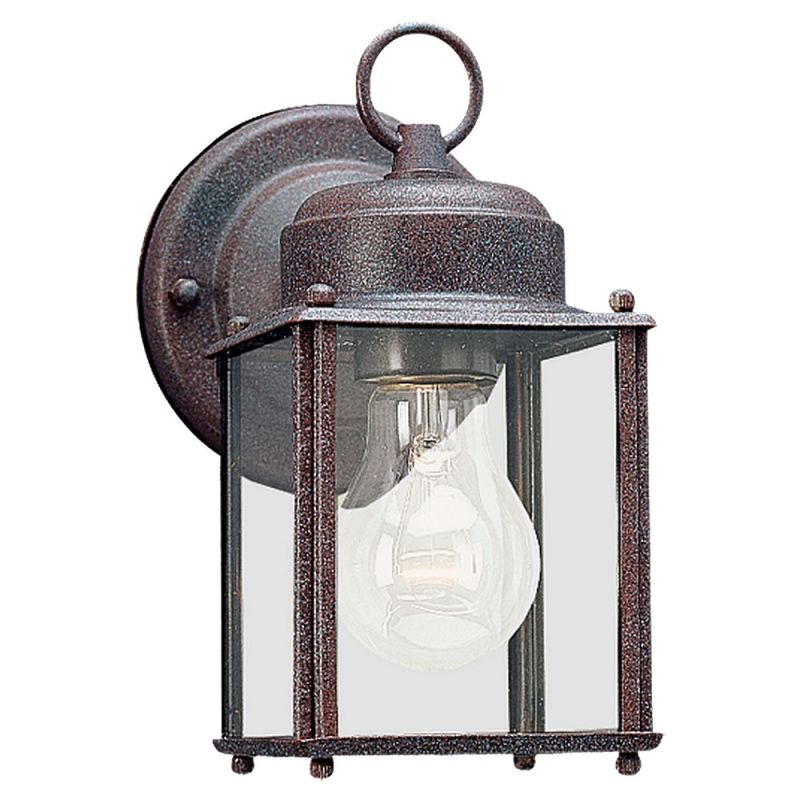 Sea Gull Lighting 8592 New Castle 1 Light Outdoor Lantern Wall Sconce