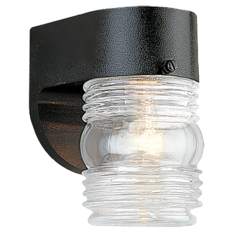 Sea Gull Lighting 8750 Outdoor Wall 1 Light Wall Sconce Black Outdoor