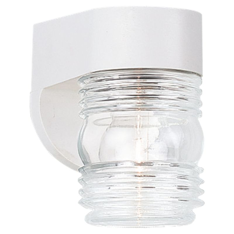 Sea Gull Lighting 8750 Outdoor Wall 1 Light Wall Sconce White Outdoor Sale $20.70 ITEM: bci279860 ID#:8750-15 UPC: 785652875052 :
