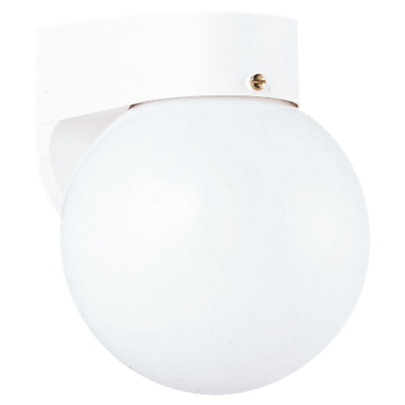 Sea Gull Lighting 8753 Outdoor Wall 1 Light Wall Sconce White / White