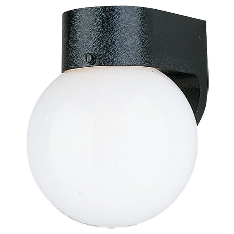 Sea Gull Lighting 8753 Outdoor Wall 1 Light Wall Sconce Black / White