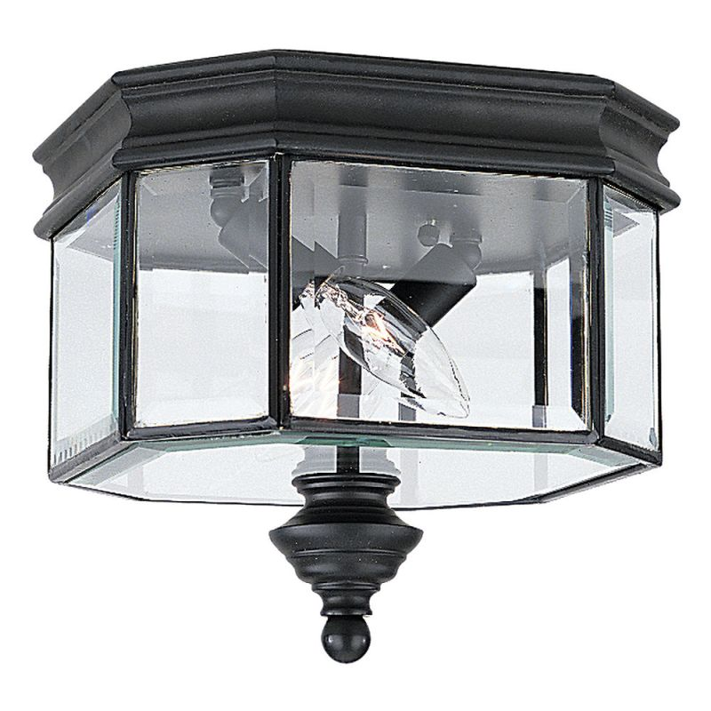 Sea Gull Lighting 8834 12 Black Hill Gate 2 Light Outdoor Flush Mount Ceiling
