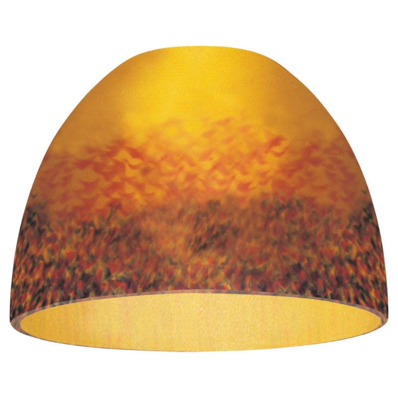 Sea Gull Lighting 94363 Single Dome Shaped Glass Shade Amber Rhapsody
