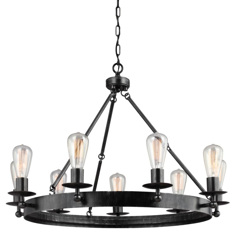 Sea Gull Lighting 3110209 Ravenwood Manor 9 Light 1 Tier Chandelier